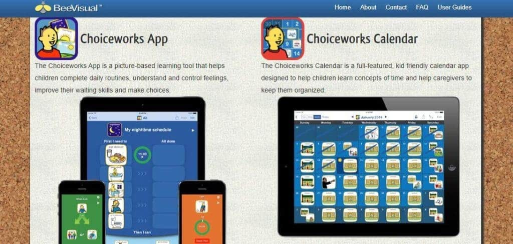 Choiceworks apps for children with autism.